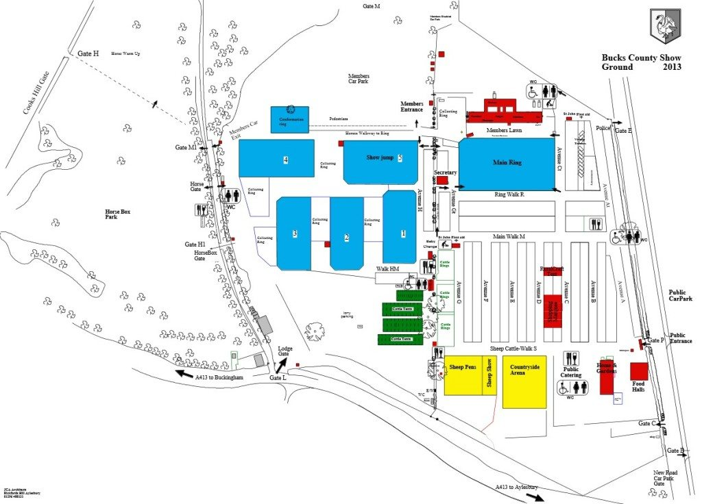 Bucks County Show - Showgrand Map