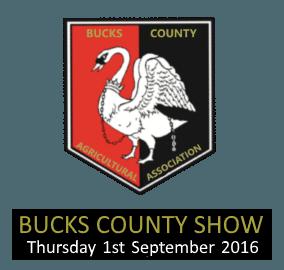 Bucks County Show 1st September 2016 Logo