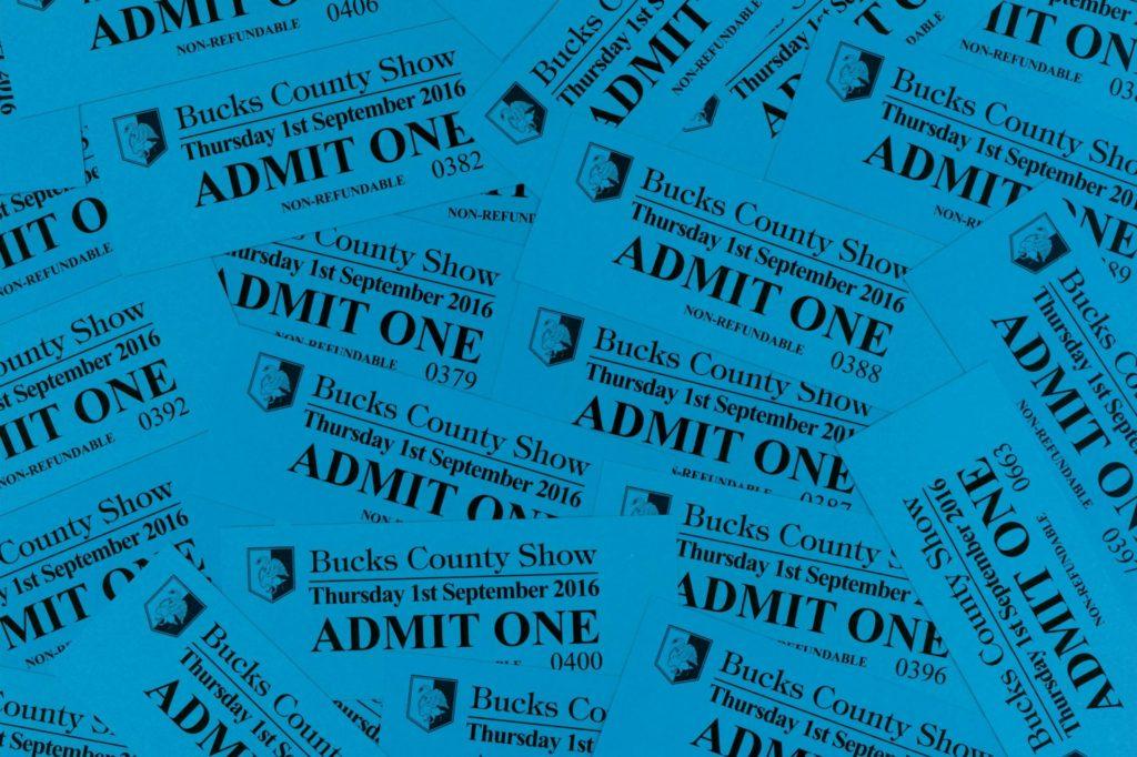 Bucks County Show - 2016 Tickets