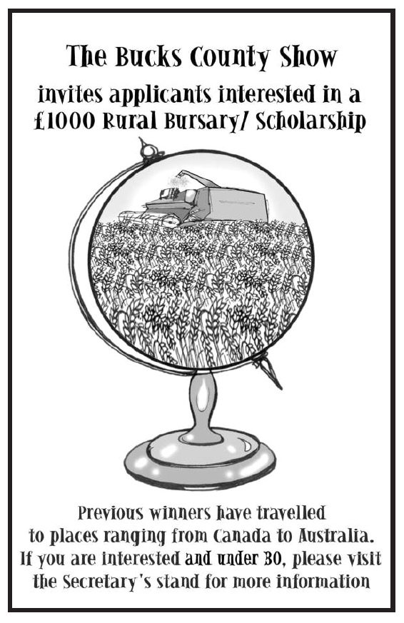 Bucks County Show - Rural Bursary